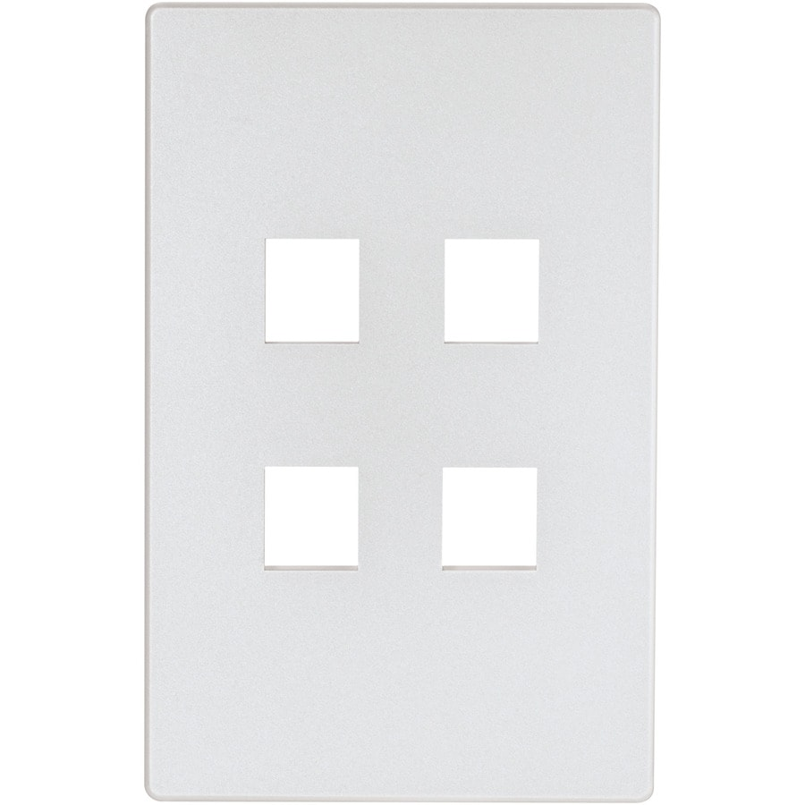 Cooper Wiring Devices Aspire 1-Gang Silver Granite Screwless Wall Plate