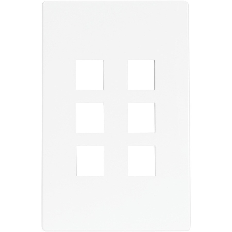 Cooper Wiring Devices Aspire 1-Gang White Satin Screwless Wall Plate