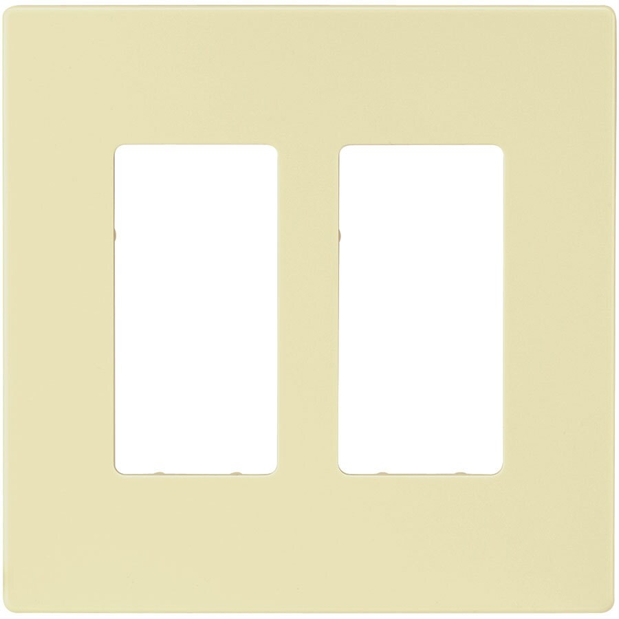 Eaton 2-Gang Almond Double Decorator Wall Plate
