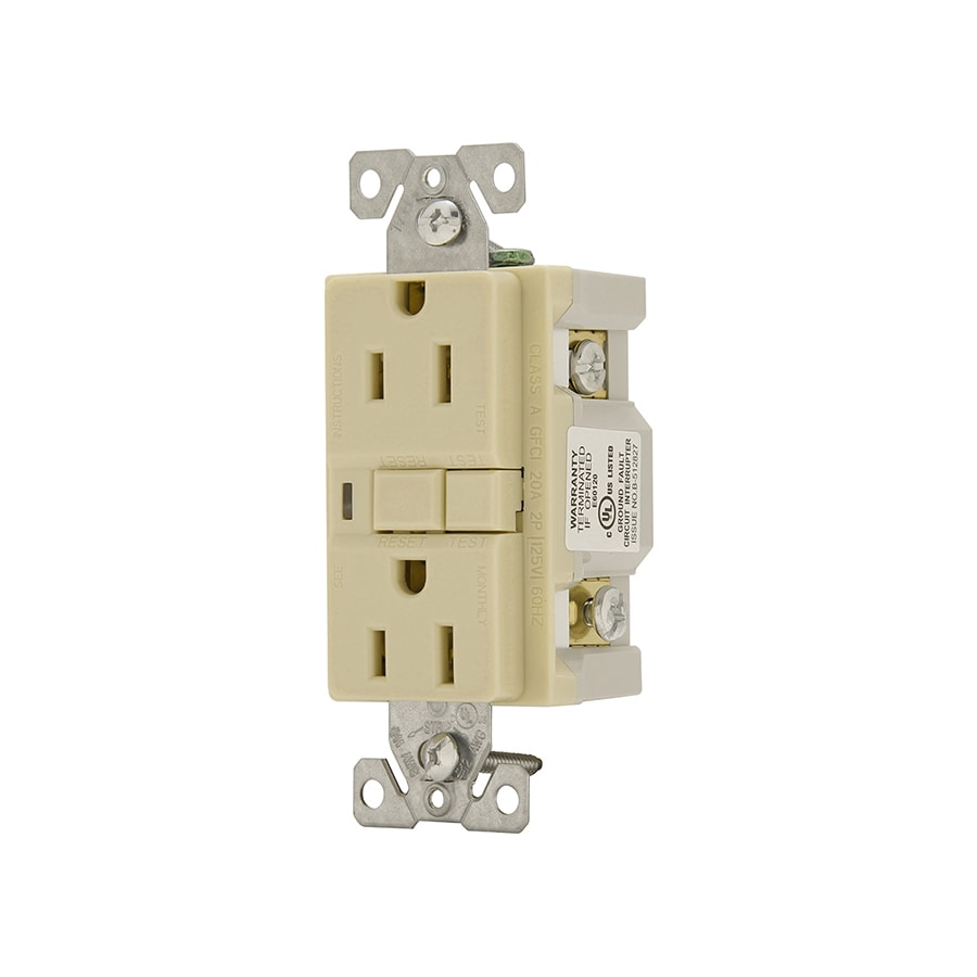 Cooper Wiring Devices 3-Pack 15-Amp 125-Volt Ivory GFCI Decorator Electrical Outlet