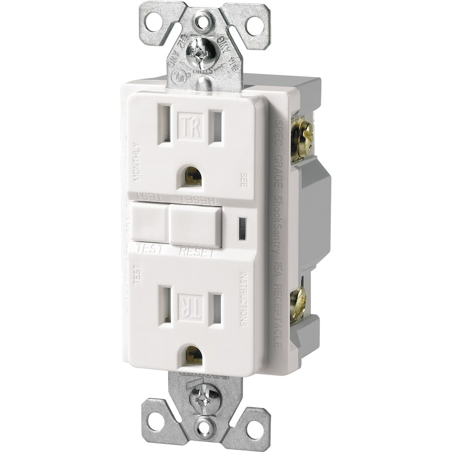 Cooper Wiring Devices 3-Pack 15-Amp 125-Volt White GFCI Decorator Tamper Resistant Electrical Outlet