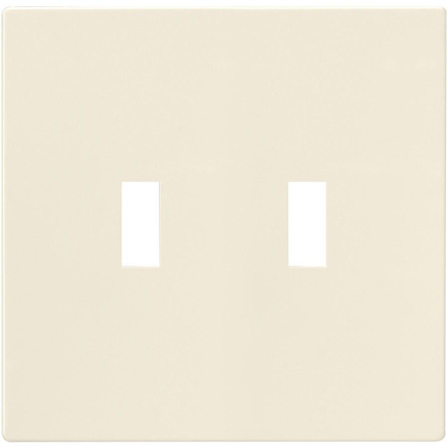Eaton 2-Gang Light Almond Double Toggle Wall Plate