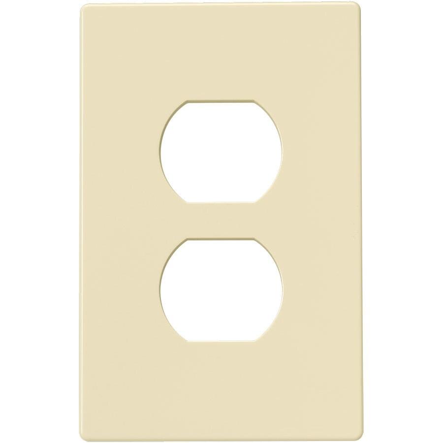 Eaton 1-Gang Almond Single Duplex Wall Plate