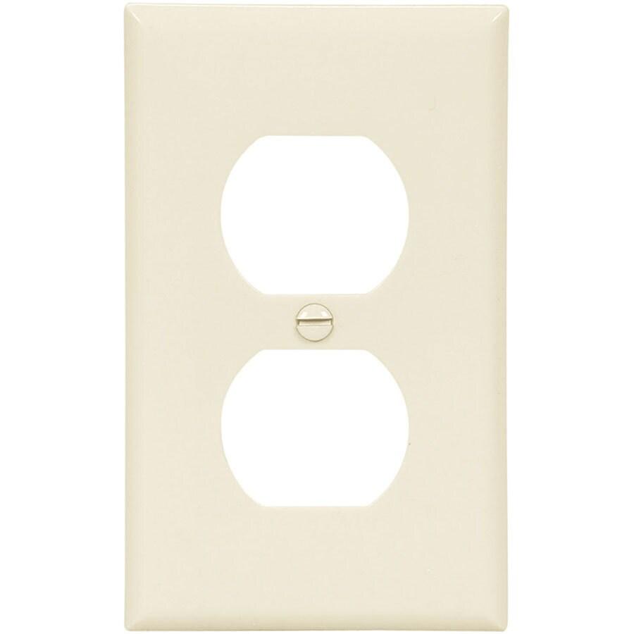 Eaton 10-Pack 1-Gang Light Almond Single Duplex Wall Plates