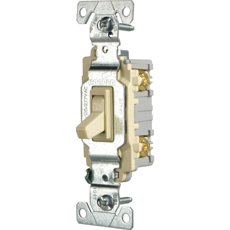 Cooper Wiring Devices Single Pole Almond Light Switch
