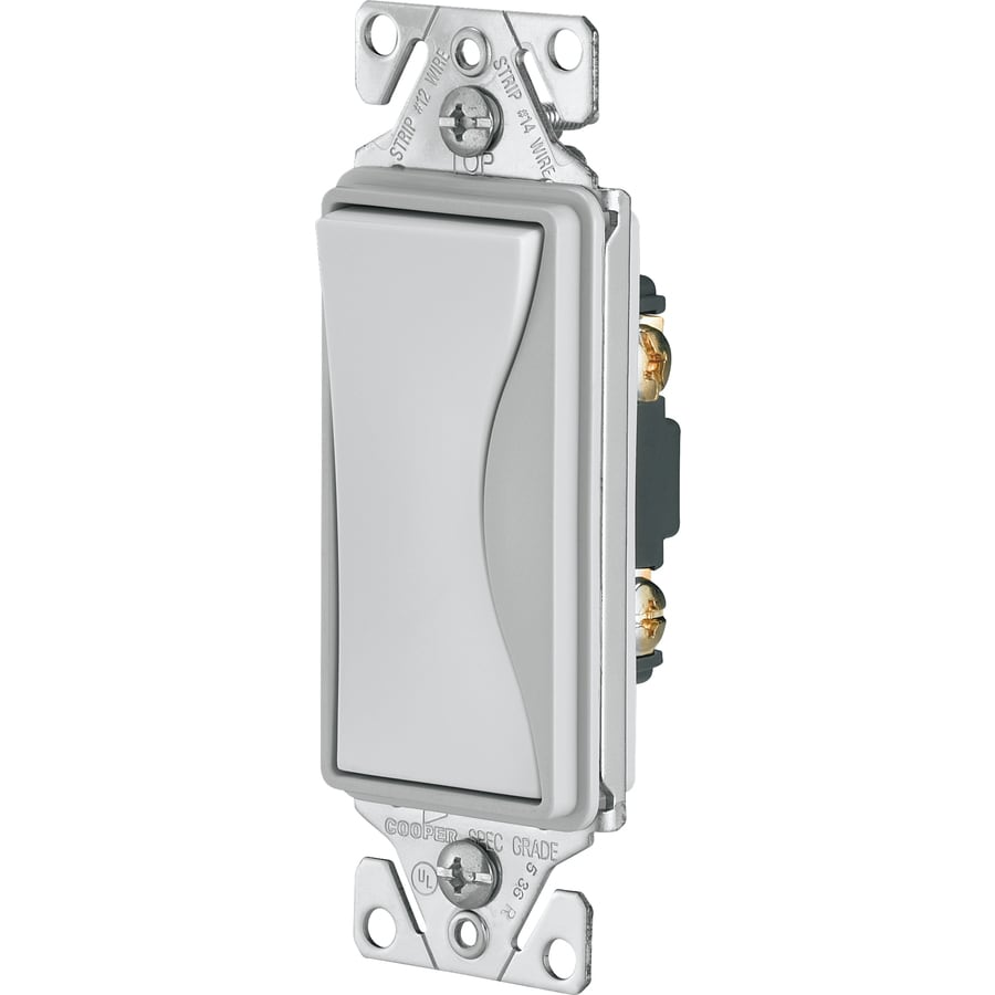 Cooper Wiring Devices ASPIRE Single Pole White Satin Light Switch