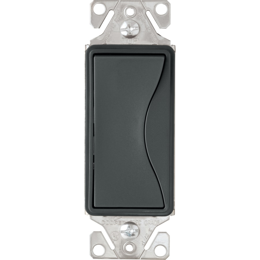 Cooper Wiring Devices ASPIRE 3-Way Single Pole Silver Granite Light Switch