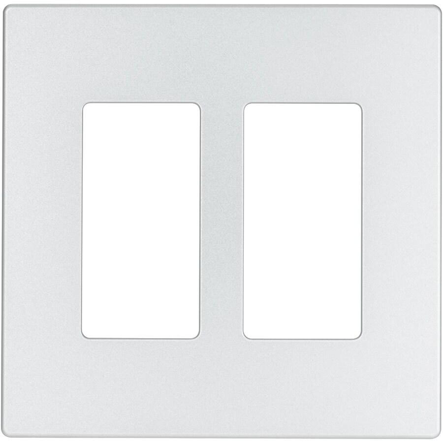 Eaton Aspire 2-Gang Silver Granite Double Decorator Wall Plate