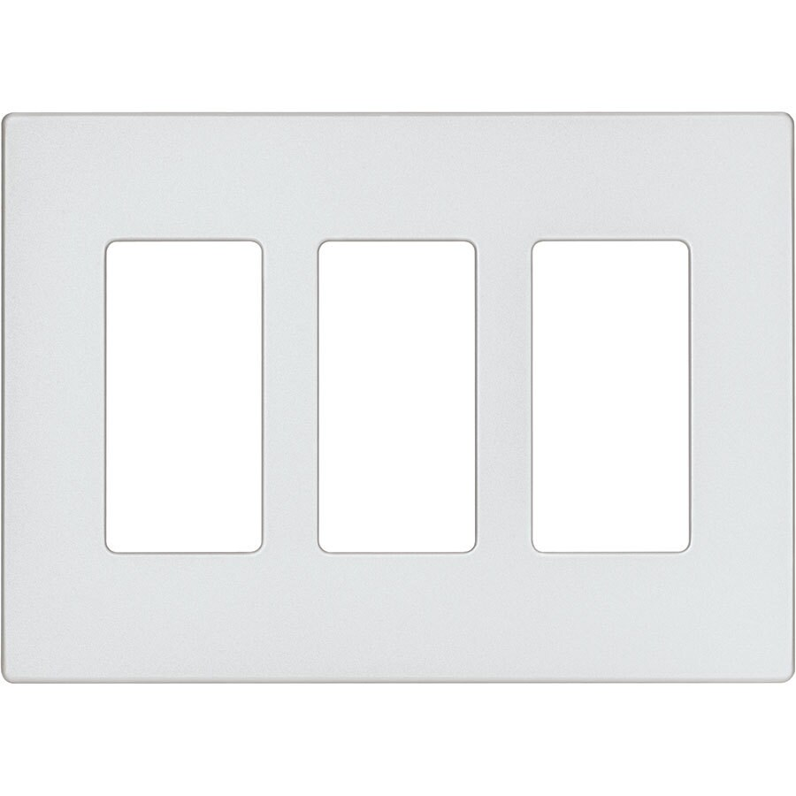Eaton Aspire 3-Gang Silver Granite Triple Decorator Wall Plate