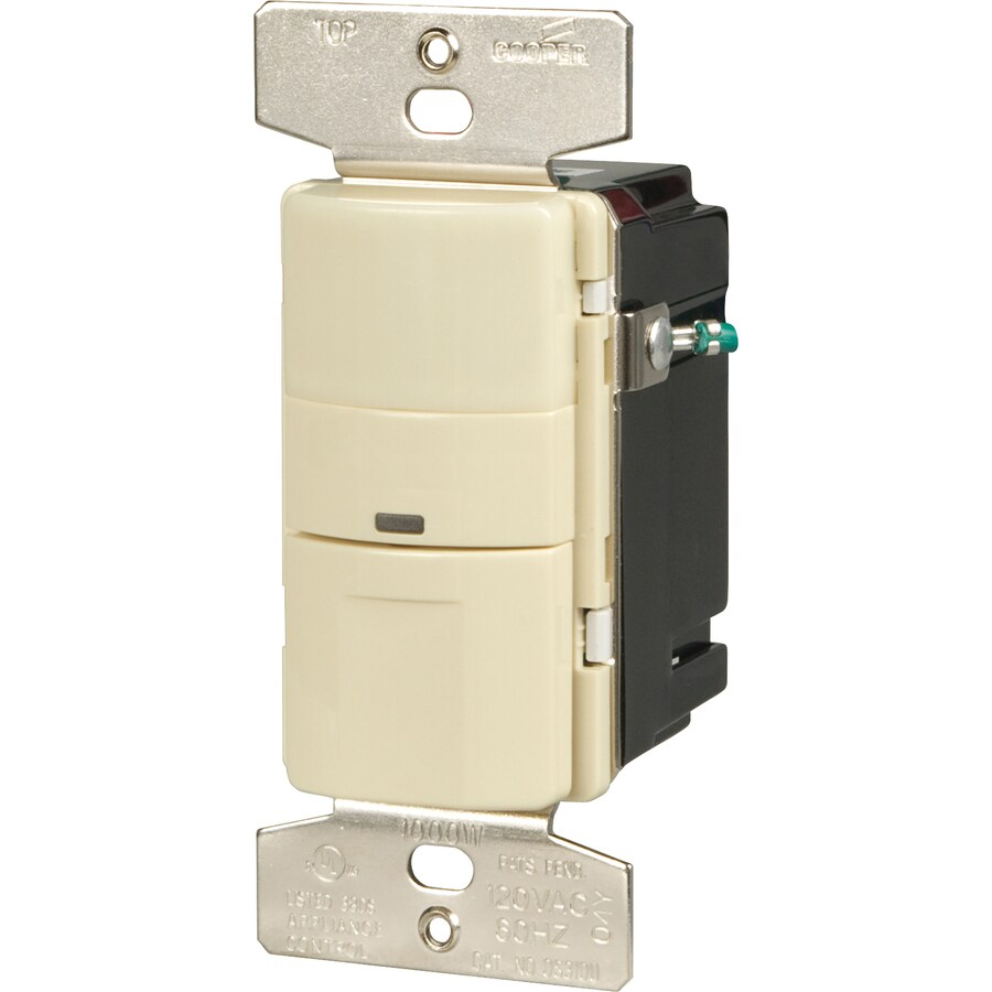 Cooper Wiring Devices 3-Way Single Pole Almond Light Switch