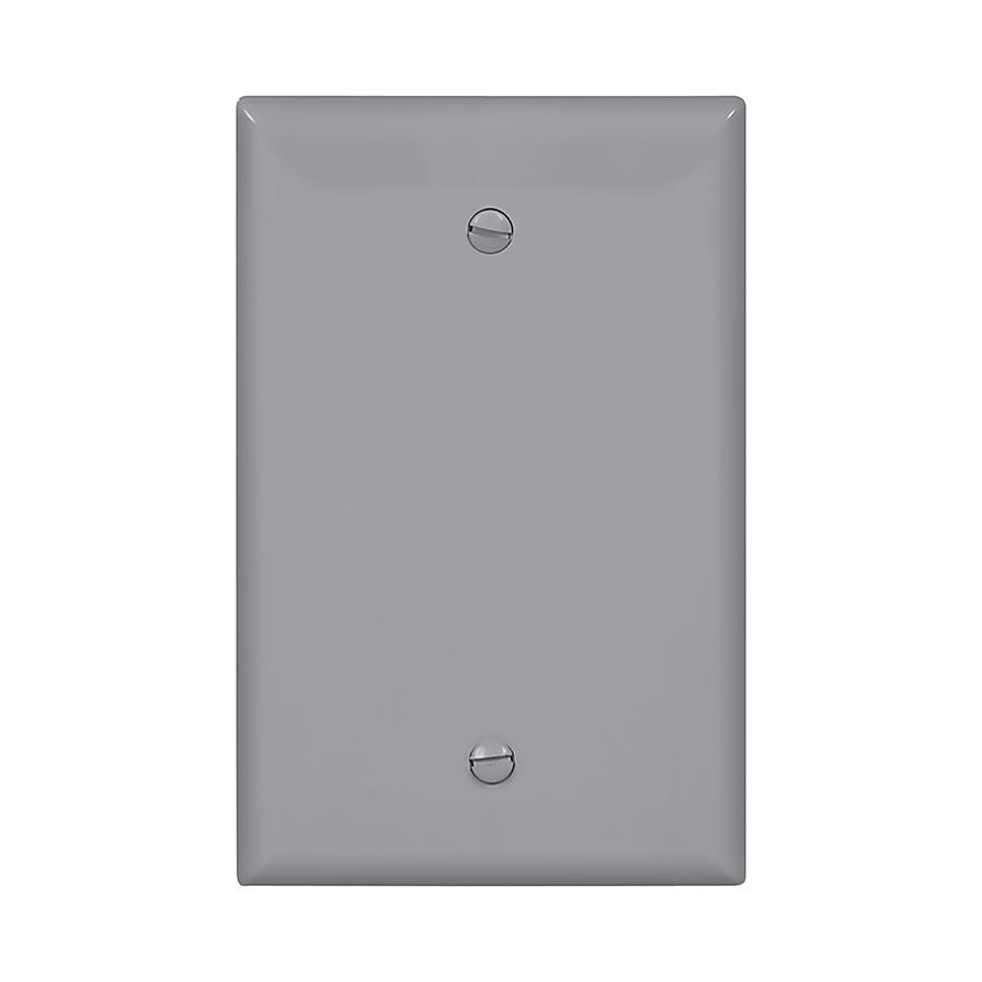Eaton 1-Gang Gray Single Blank Wall Plate