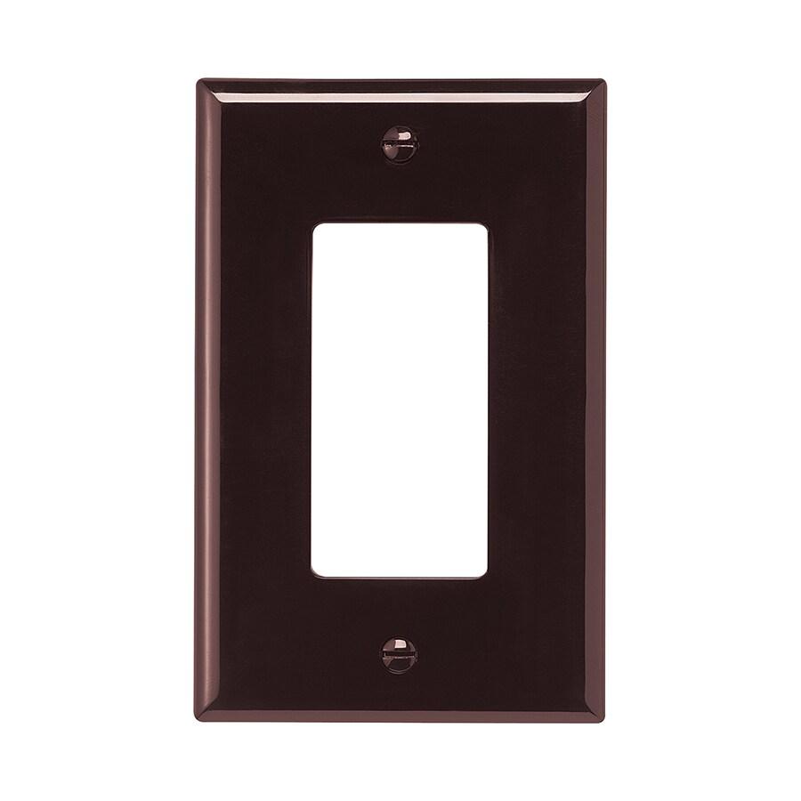 Eaton 1-Gang Brown Single Decorator Wall Plate