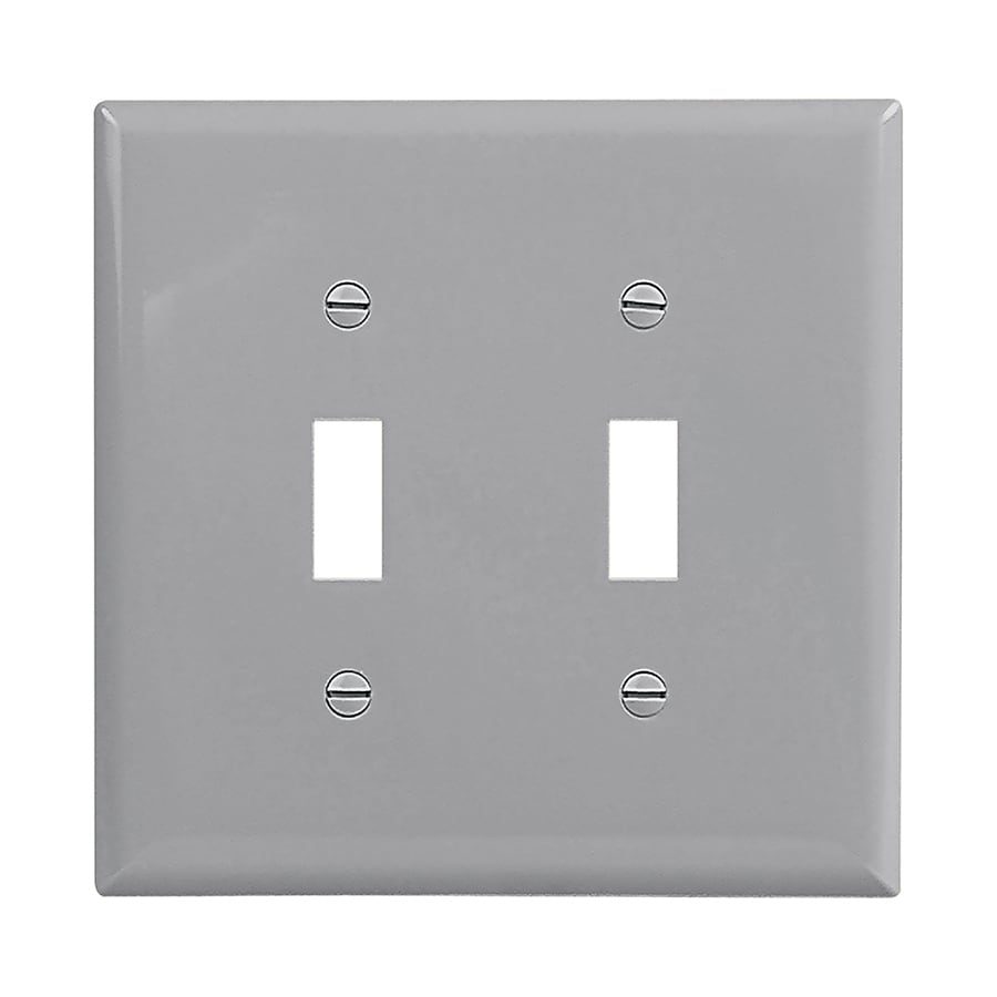 Eaton 2-Gang Gray Double Toggle Wall Plate