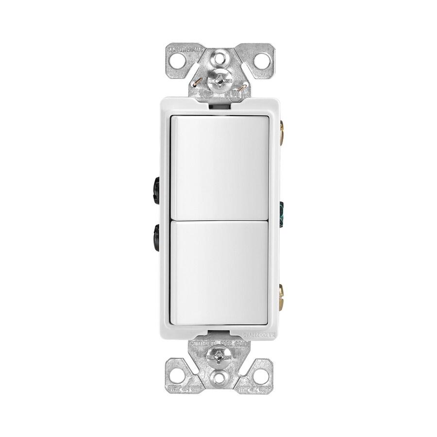 Eaton 15 Amp Single Pole White