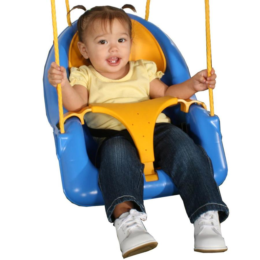 Swing-N-Slide Comfy-N-Secure Blue and Yellow Infant Swing