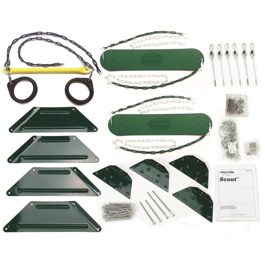 Swing-N-Slide Scout DIY Kit Wood Playset with Swings