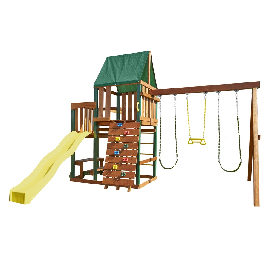 Swing-N-Slide Chesapeake Ready-to-Assemble Kit Residential Wood Playset with Swings