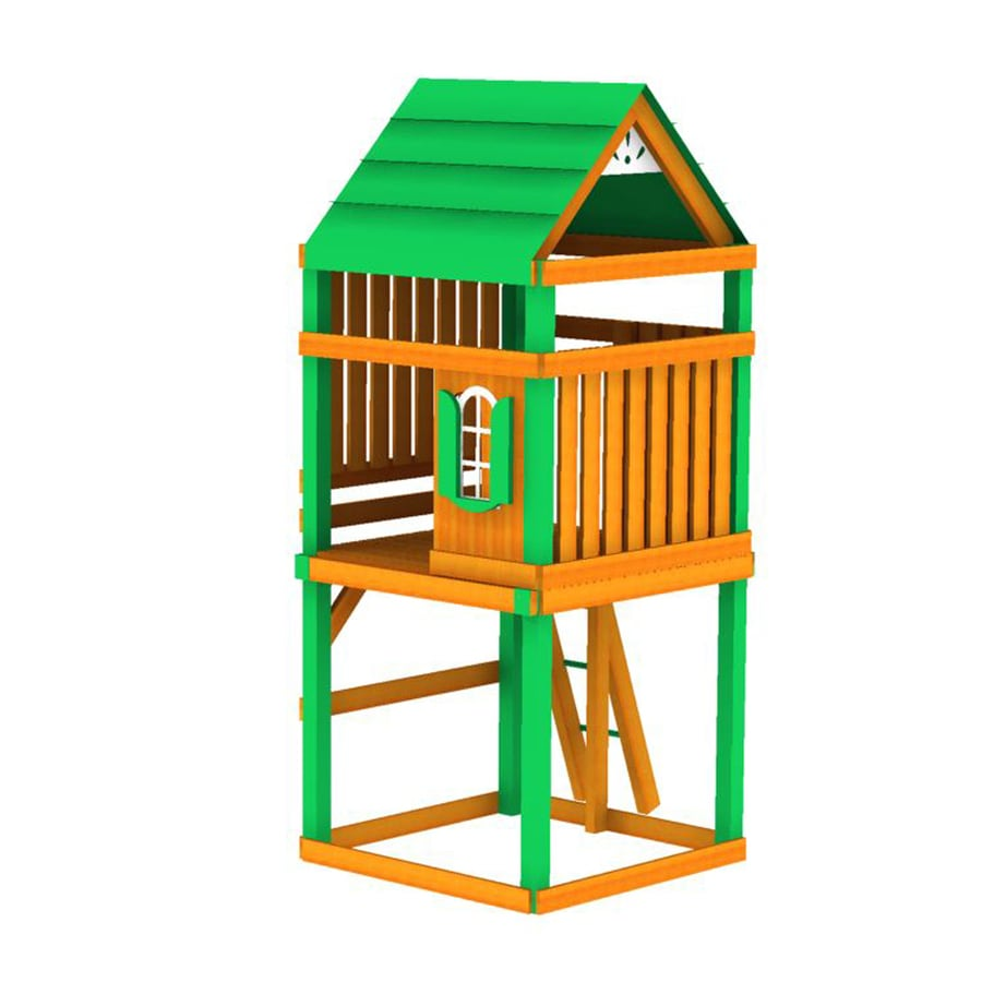 Swing-N-Slide Tower Residential Wood Playset Tower