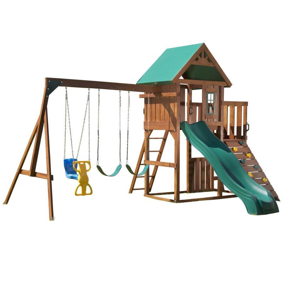 Swing-N-Slide Willow's Peak Residential Wood Playset with Swings