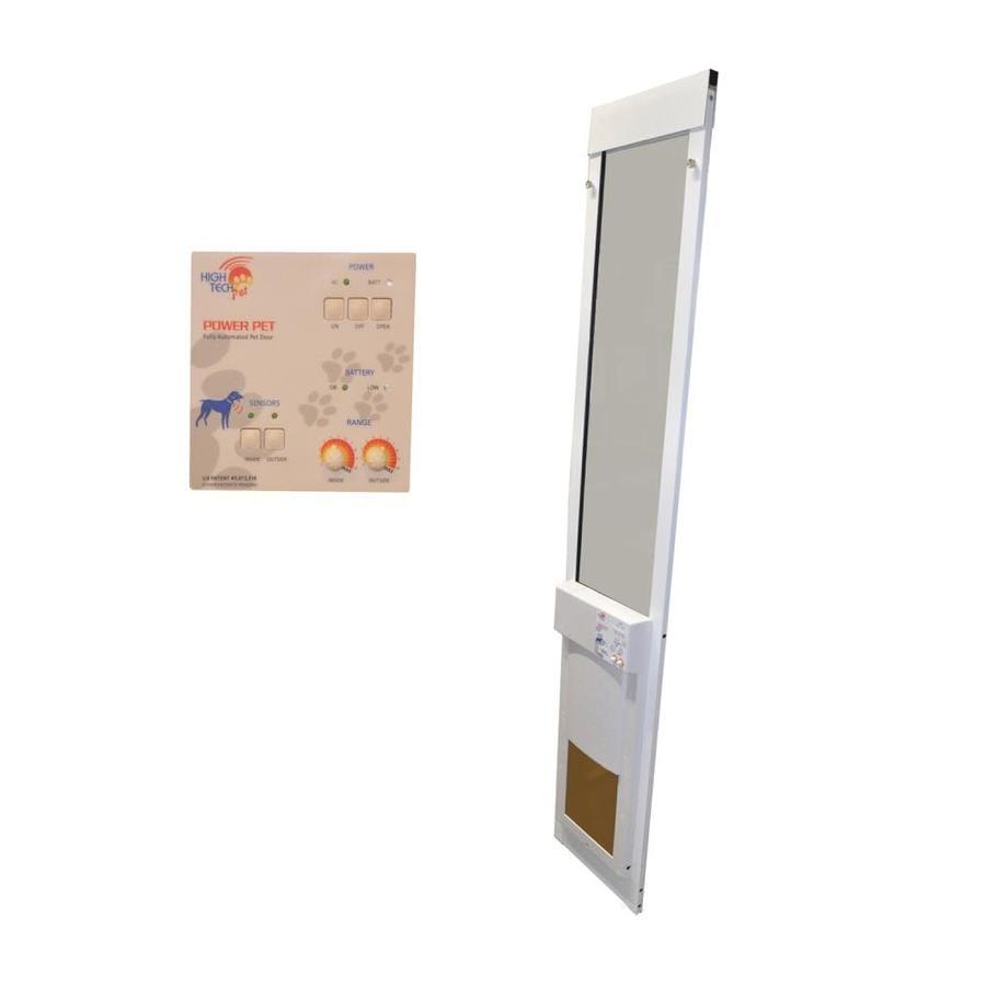 High Tech Pet Medium White Composite Sliding Pet Door (Actual: 12-in x 8.25-in)