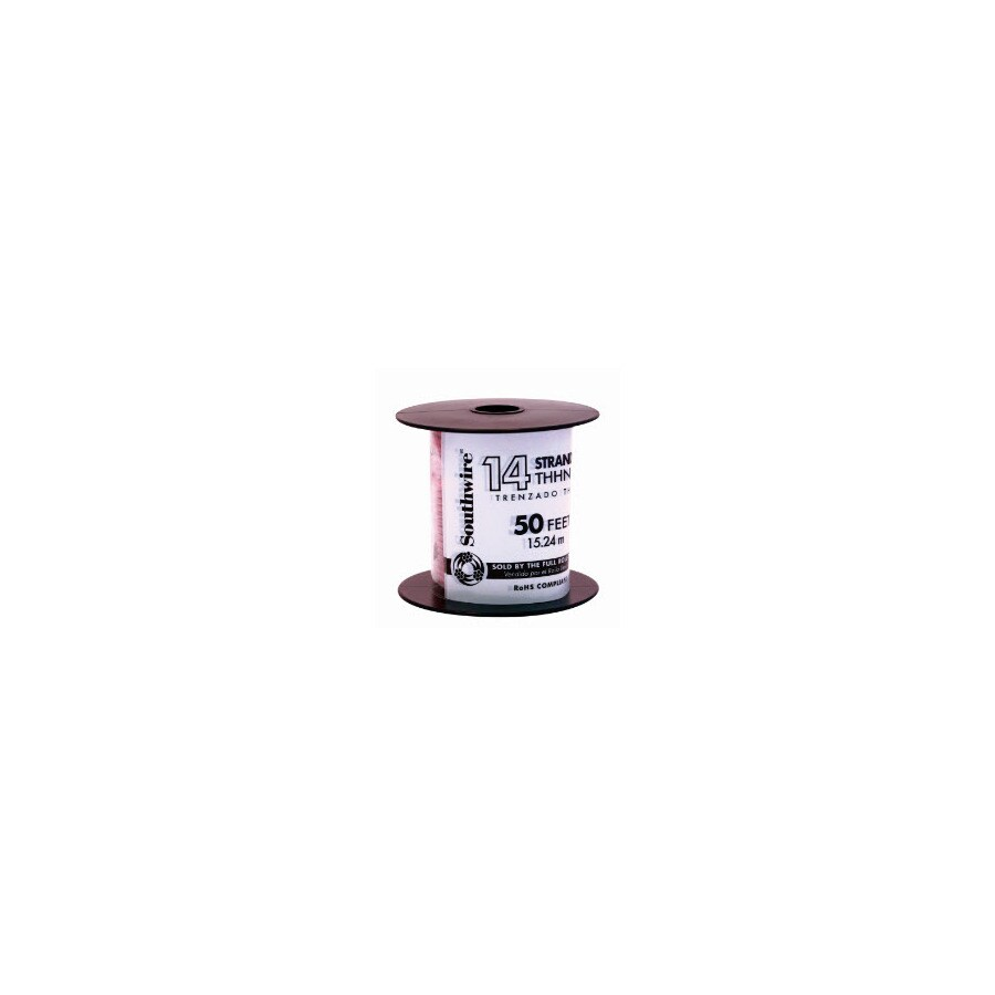 50-ft 14 AWG Stranded Red THHN Wire (By-the-Roll)