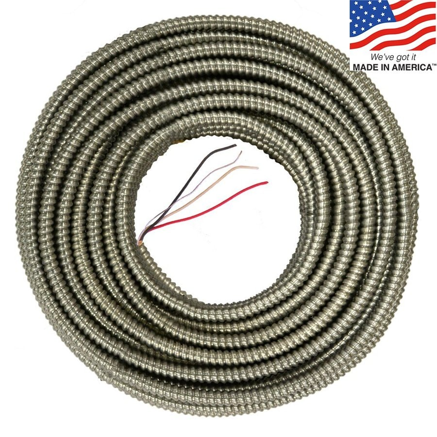 125-ft 10-3 Solid Aluminum BX Cable
