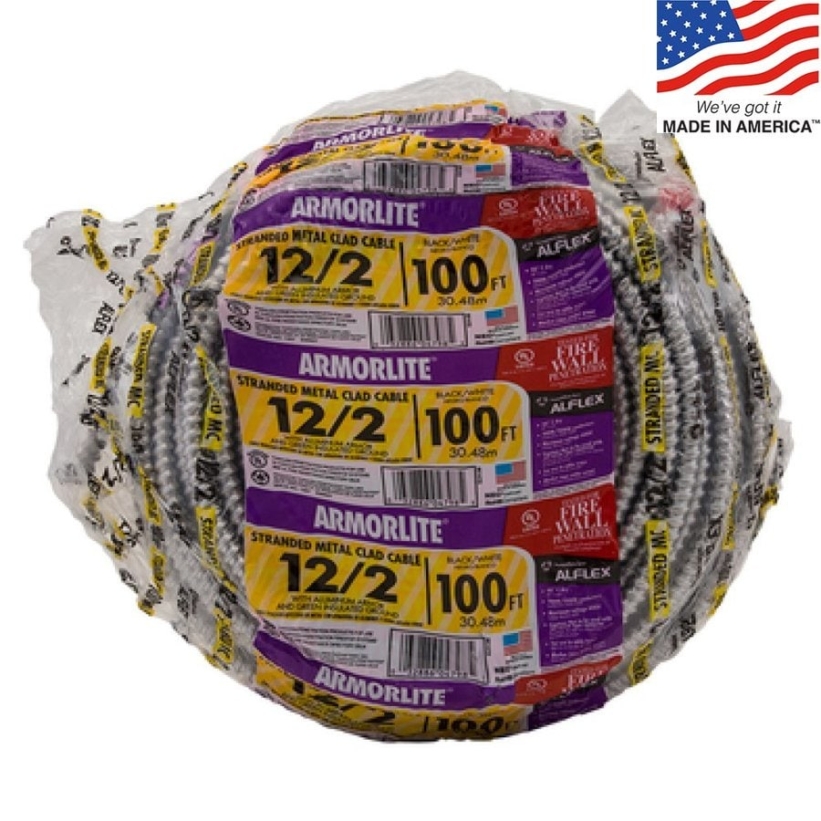 100-ft 12-2 Solid Aluminum BX Cable