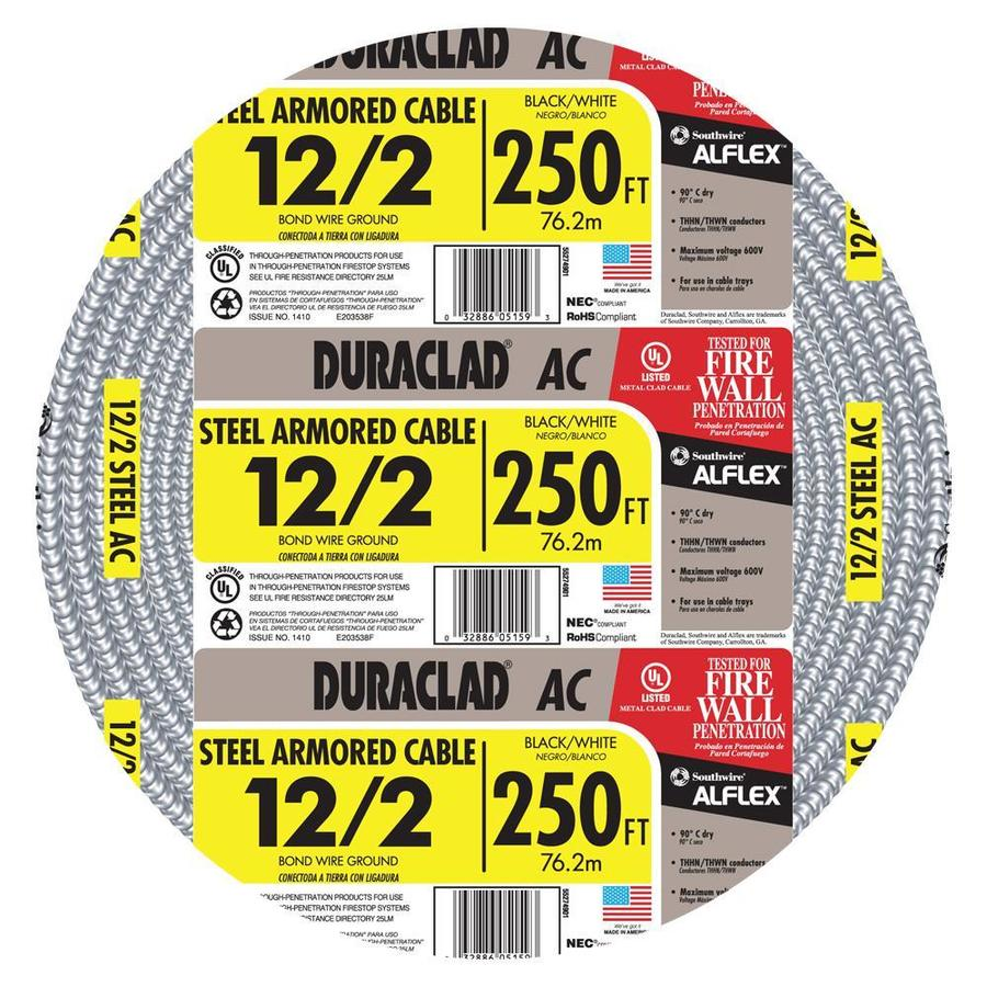 250-ft 12-2 Solid Steel BX Cable