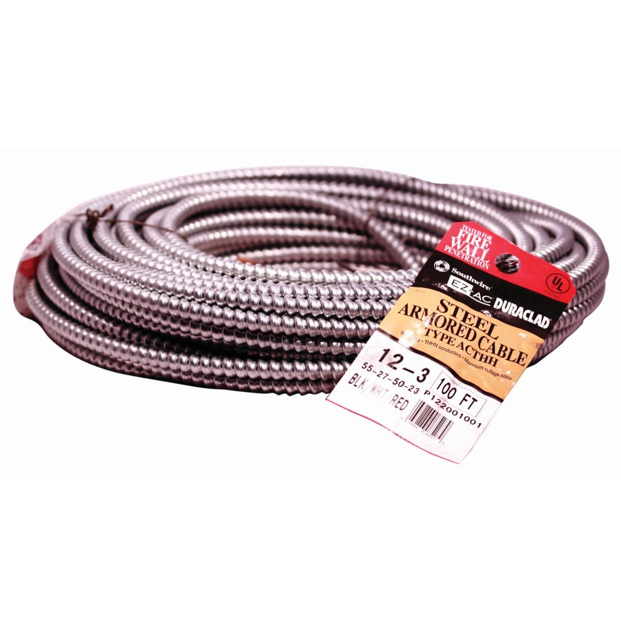 Southwire Duraclad 100 Ft 12 3 Solid Steel Ac Cable In The Armored Cable Department At Lowes Com