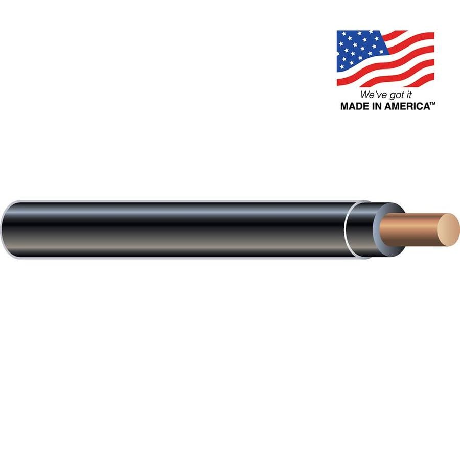 Southwire 14-AWG Solid Black Copper THHN Wire (By-the-Foot)