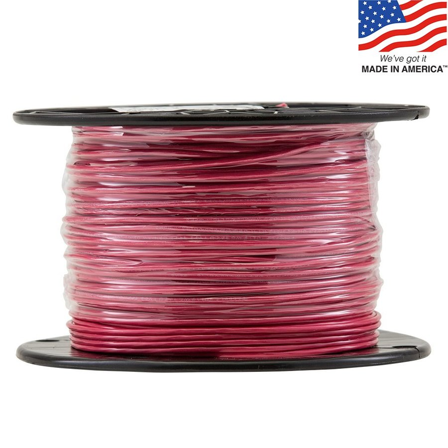 500-ft 16-Awg Stranded Red TFFN Wire (By-the-Roll)
