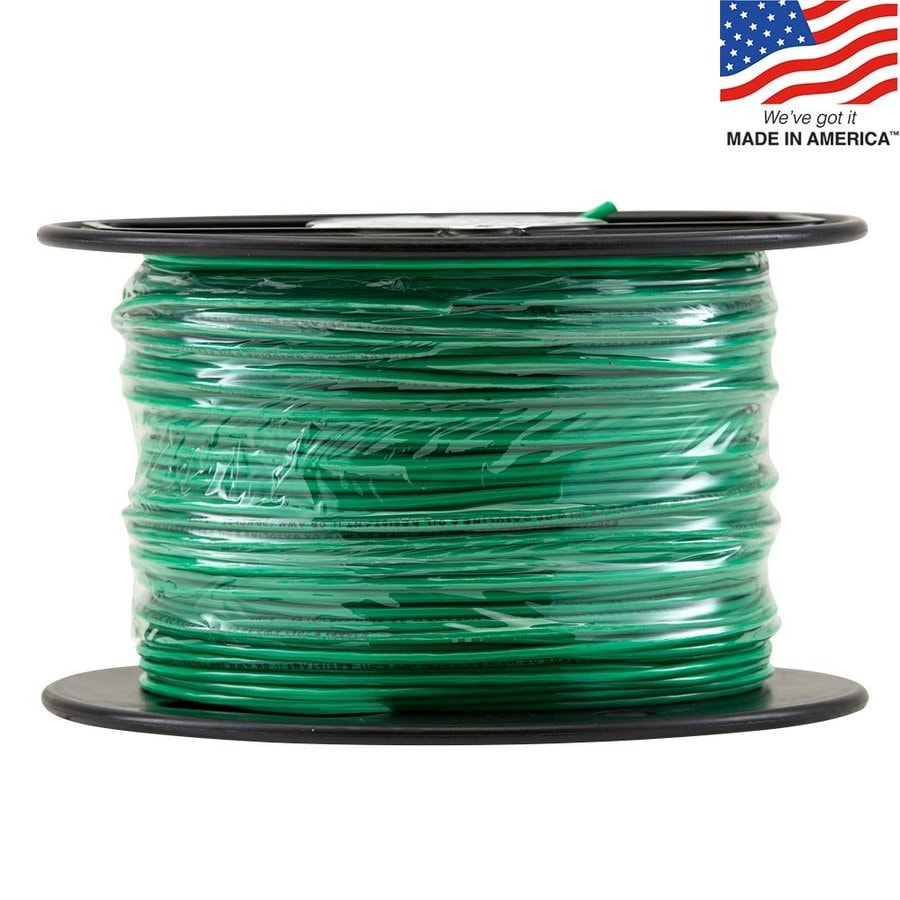 500-ft 16-Awg Stranded Green TFFN Wire (By-the-Roll)
