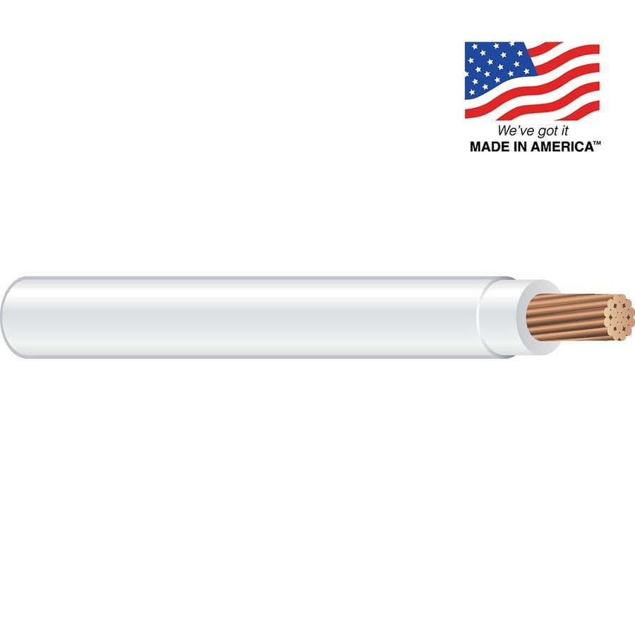 Southwire 14-AWG Stranded White Copper THHN Wire (By-the-Foot)