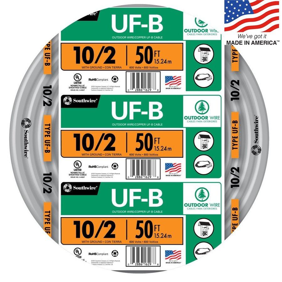 Southwire 50-ft 10-2 UF Wire (By-the-Roll)