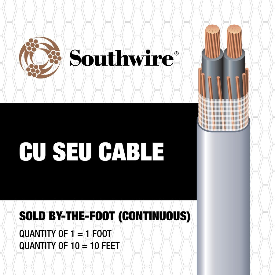 6-6-6 Copper Seu Service Entrance Cable (By-the-Foot)