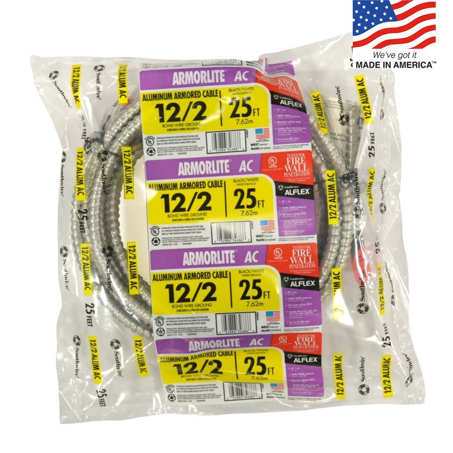 25-ft 12-2 Solid Aluminum BX Cable