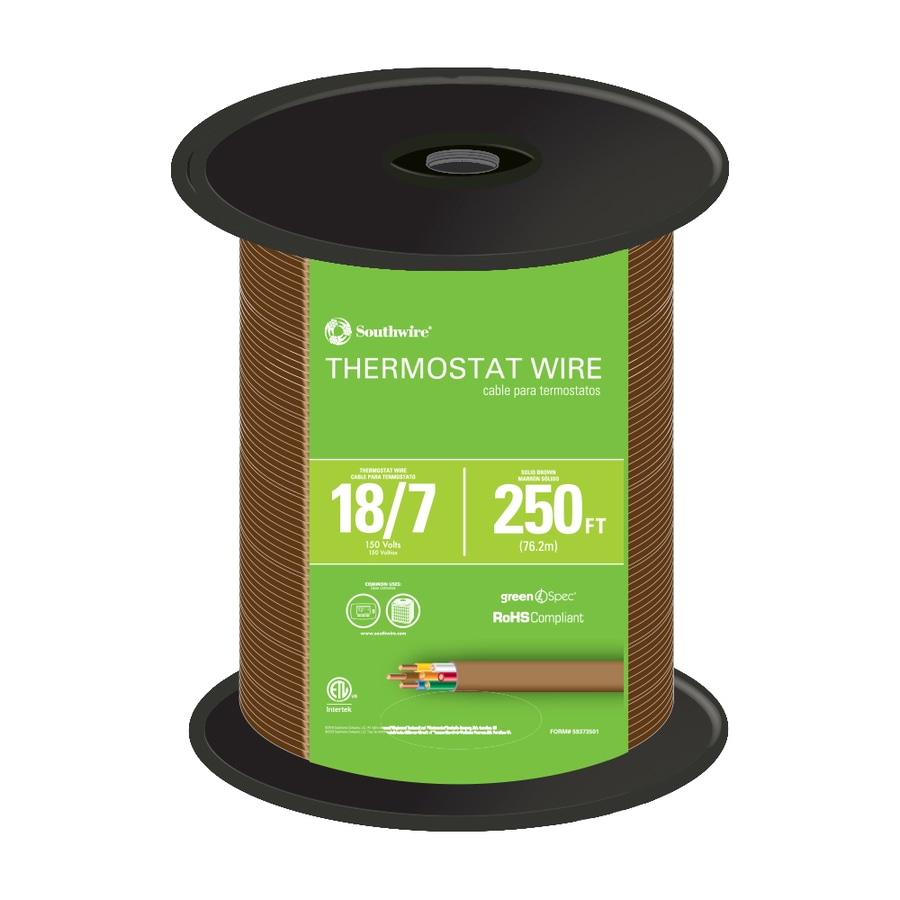 250-ft 18-AWG 7-Conductor Thermostat Wire (By-the-Roll)