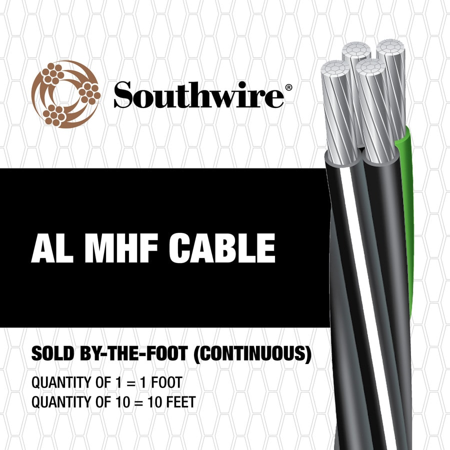 4/0-4/0-2/0-4 Aluminum Mobile Home Feeder Service Entrance Cable (By-the-Foot)