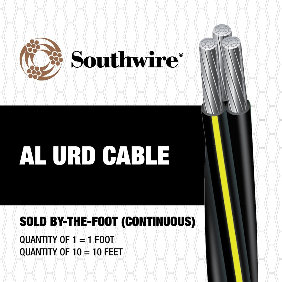 4/0-4/0-2/0 Aluminum URD Service Entrance Cable (By-the-Foot)