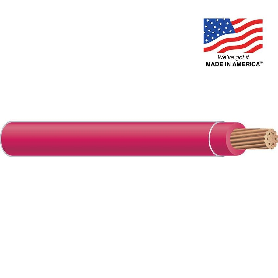 12-AWG Stranded Red Copper THHN Wire (By-the-Foot)