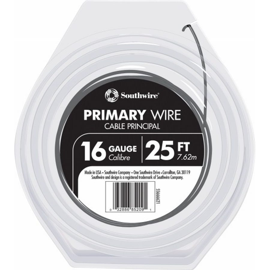 Southwire 25-ft 16-AWG Stranded Black GPT Primary Wire
