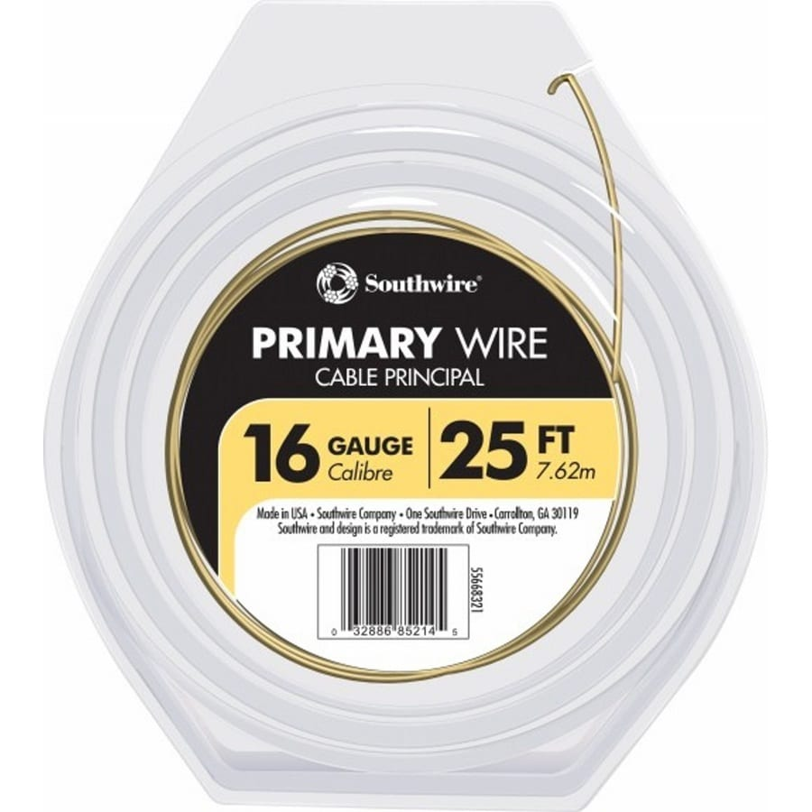 Southwire 25-ft 16-AWG Stranded Yellow GPT Primary Wire