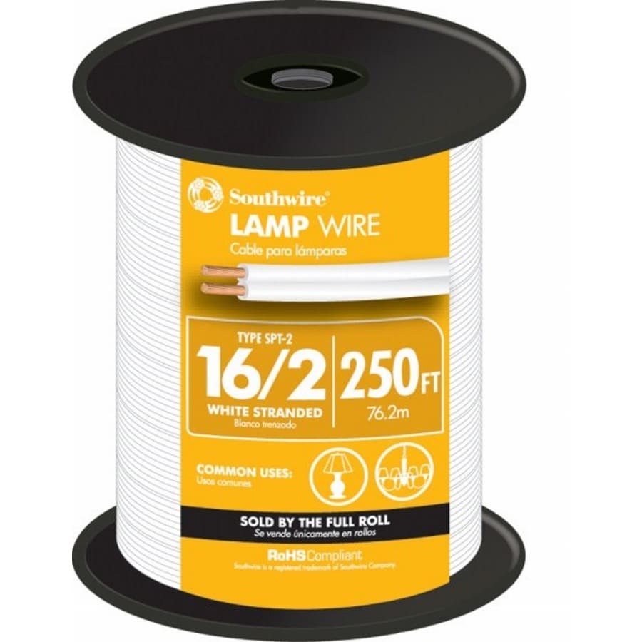 250-ft 16-AWG 2-Conductor White Lamp Cord