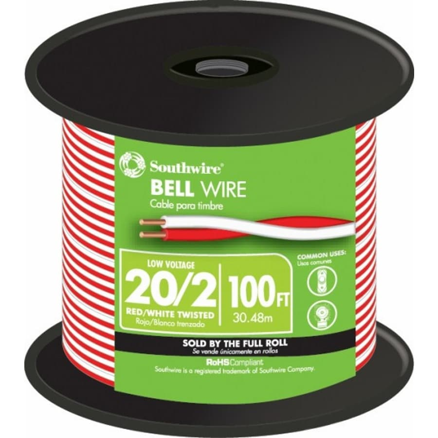 100-ft 20-AWG 2-Conductor Twisted Doorbell Wire (By-the-Roll)