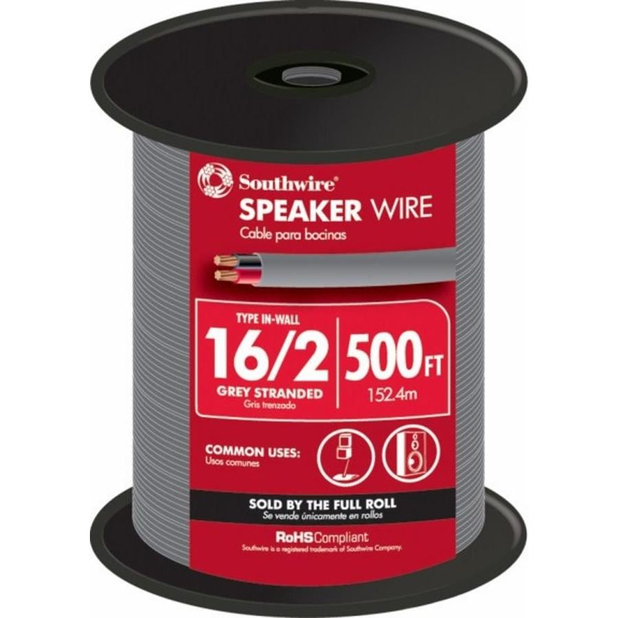 500-ft 16-AWG to 2 In-Wall Speaker Wire (By-The-Roll)