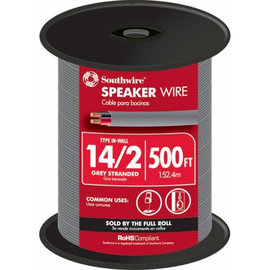 Southwire 500-ft 14-AWG to 2 In-Wall Speaker Wire (By-The-Roll)