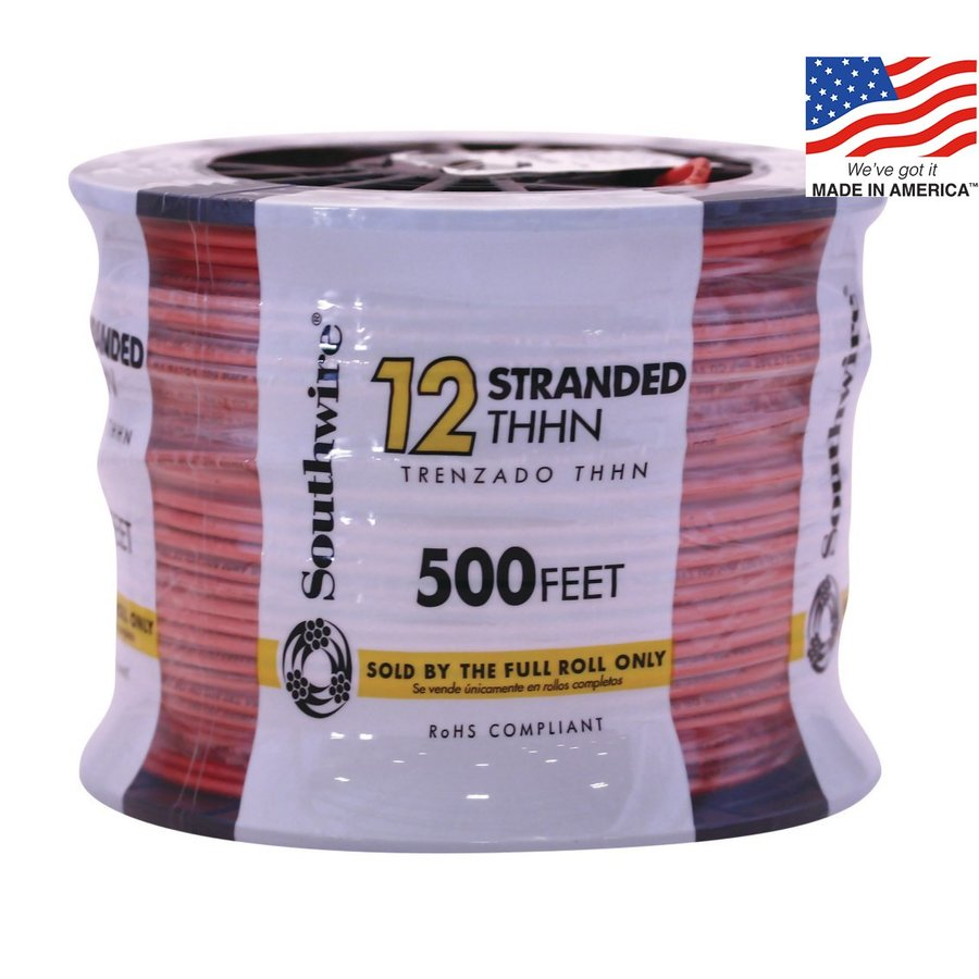 500-ft 12-AWG Stranded Orange Copper THHN Wire (By-the-Roll)