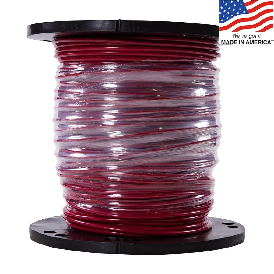 500-ft 6-AWG Stranded Red Copper THHN Wire (By-the-Roll)