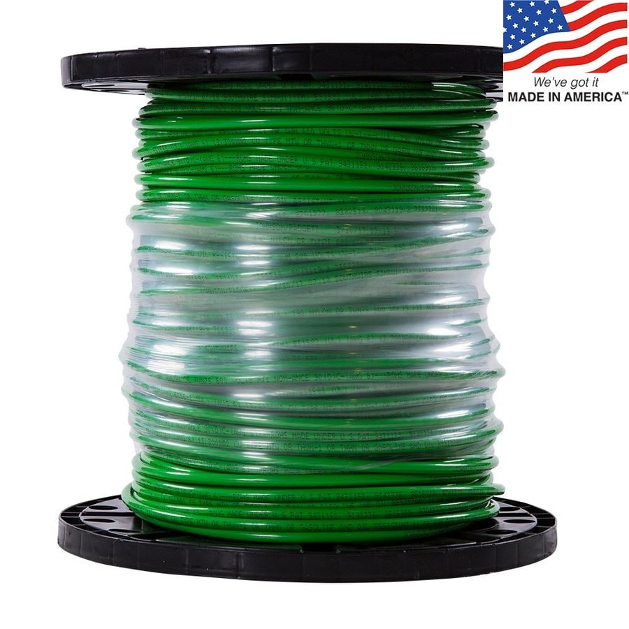 500-ft 6-AWG Stranded Green Copper THHN Wire (By-the-Roll)