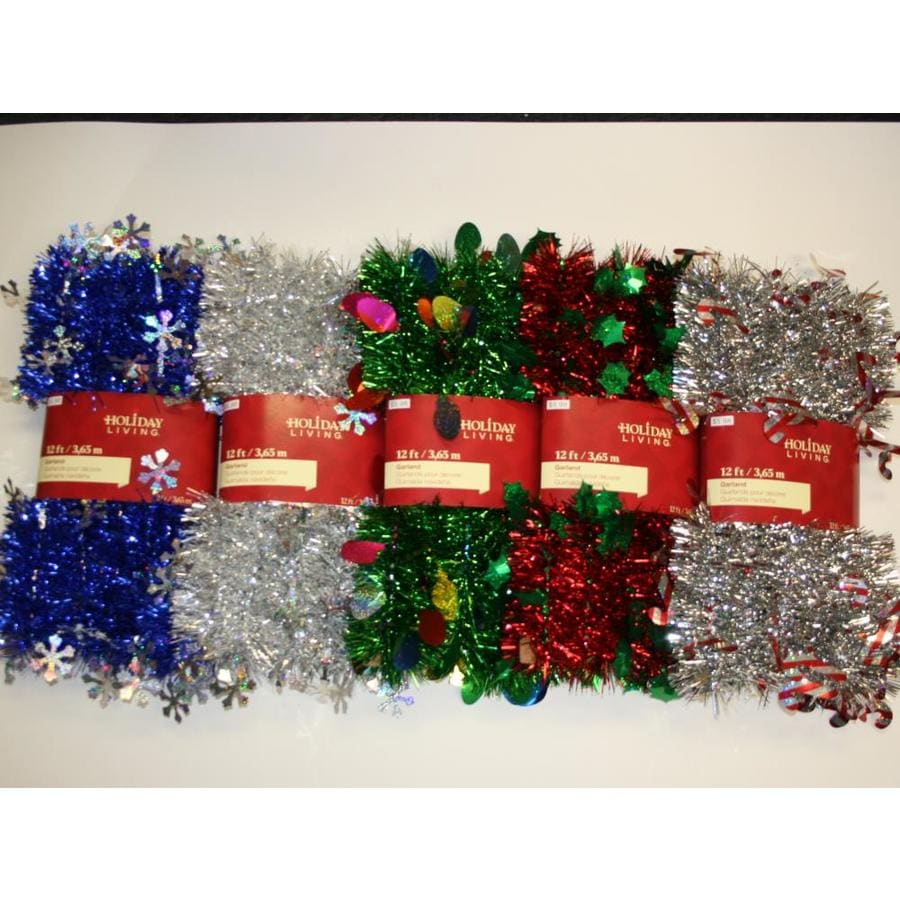 Holiday Living 1.5-in x 12-ft Tinsel Artificial Christmas Garland